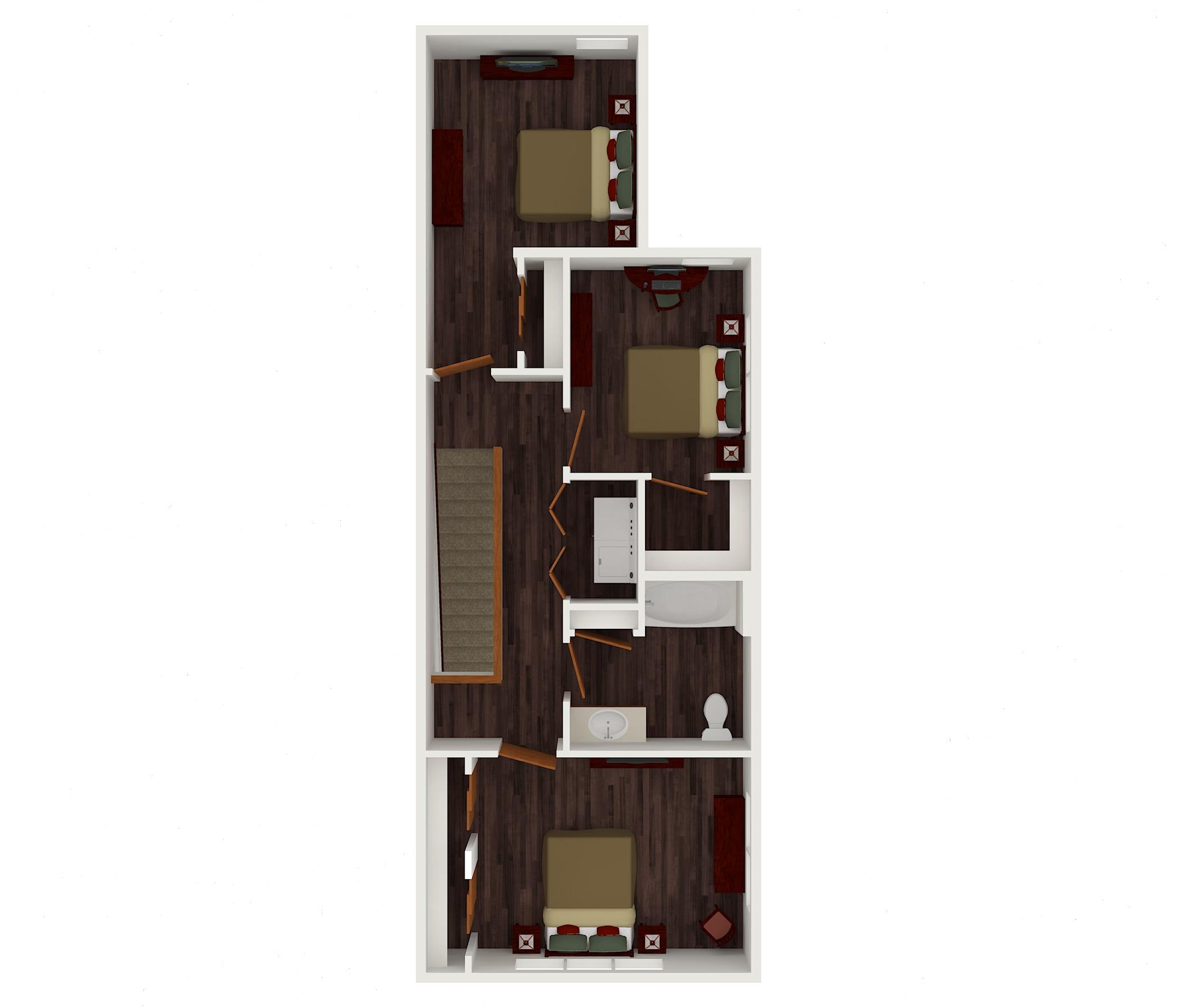 3 bed upper