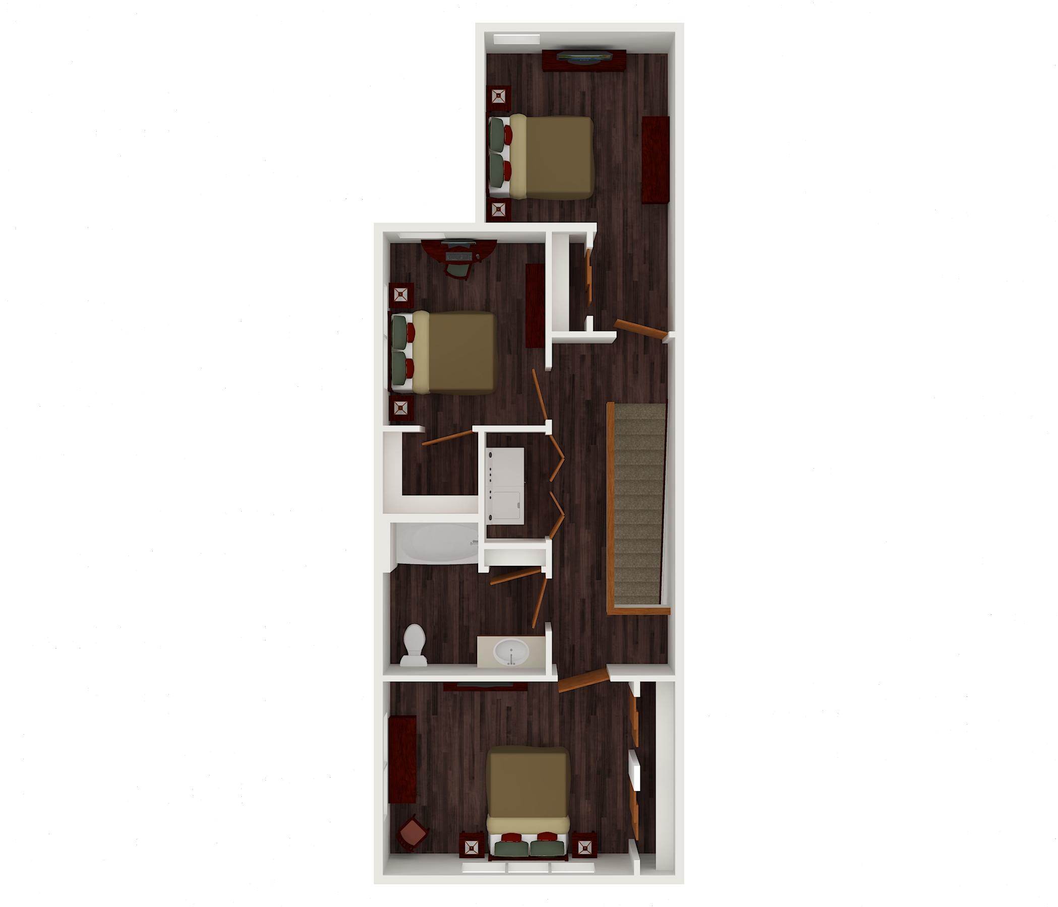 4 bed upper