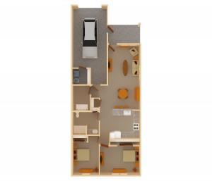1 story 2 bedroom