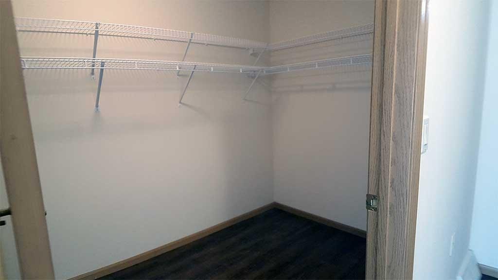 Waupaca Townhomes bedroom 1 closet