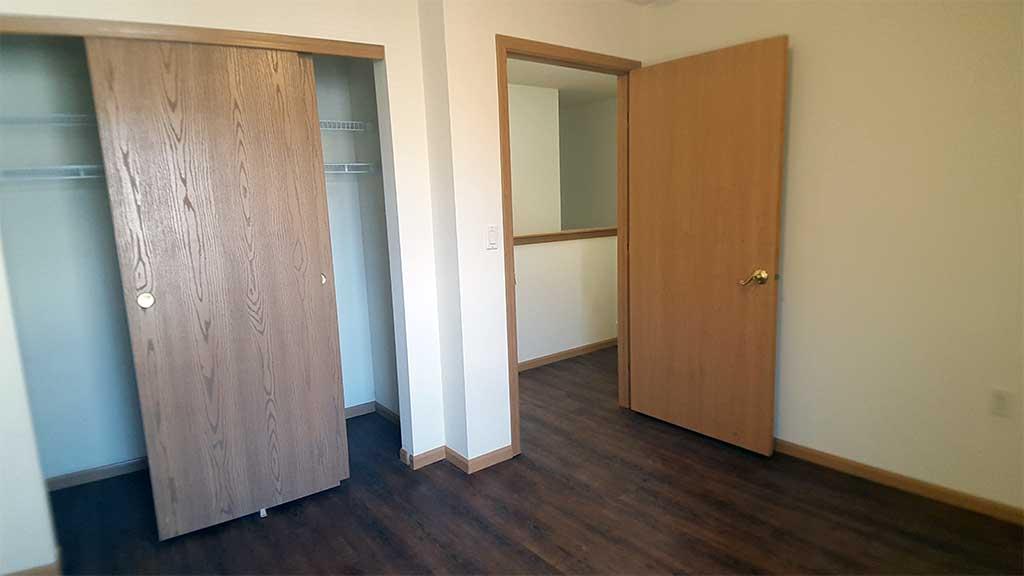 Waupaca Townhomes bedroom 3 closet