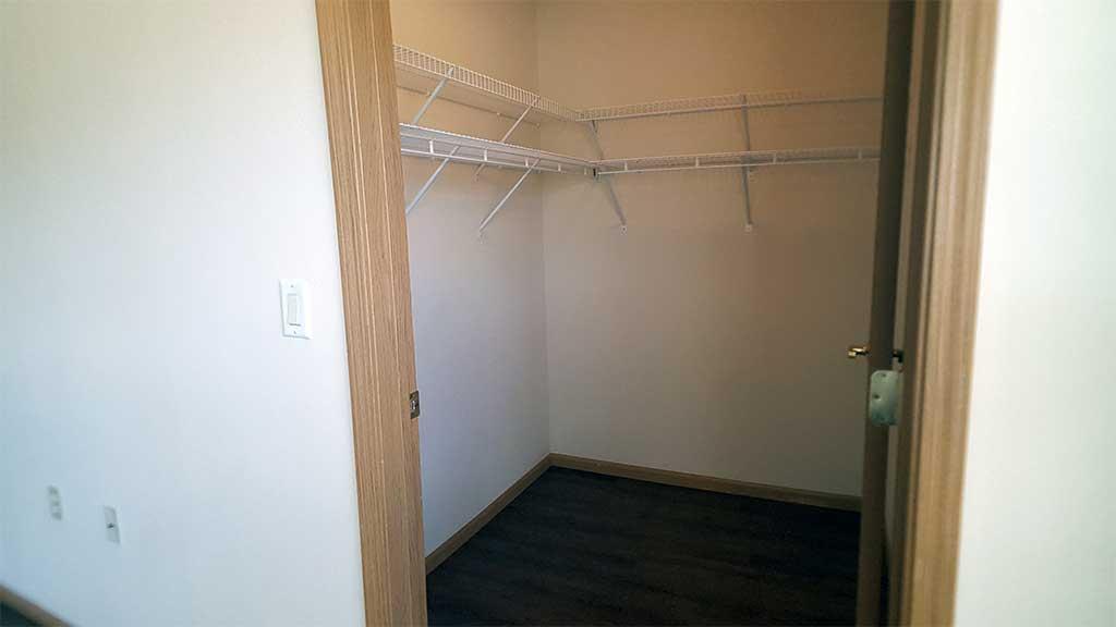 Waupaca Townhomes bedroom 2 closet