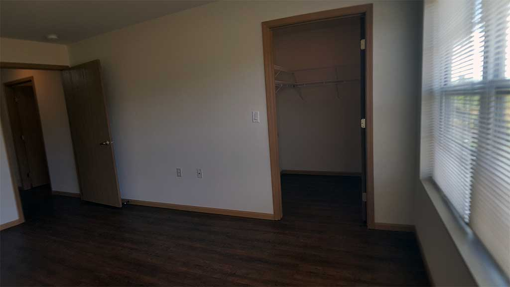 Waupaca Townhomes bedroom 2 closet
