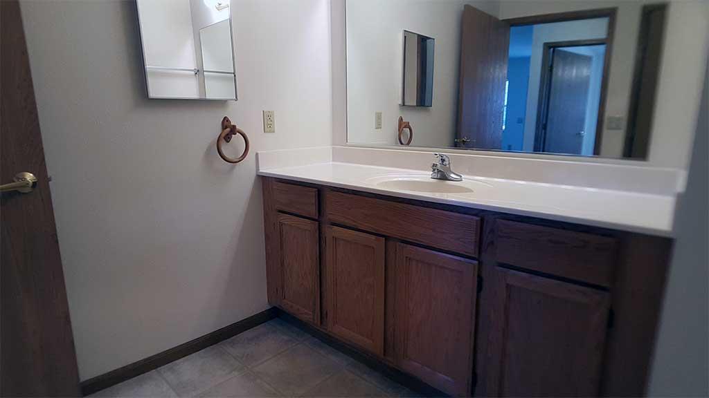 Wolf River SV full bathroom vanity front building
