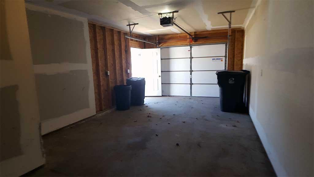 Westfield garage inside 2 bedroom side