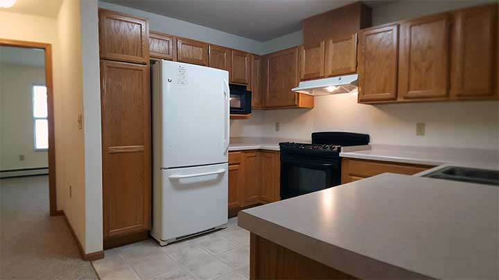 River City SV Kitchen frige and microwave