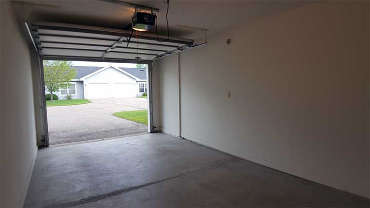 River City SV Garage looking out