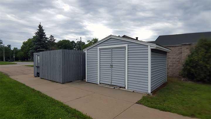 River City SV Dumpster corral & maintenance garage