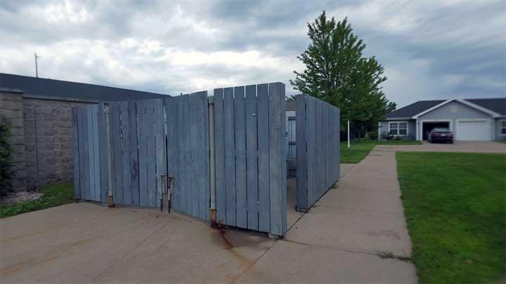 River City SV Dumpster corral